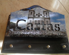 PORTA CHAVES E CARTA