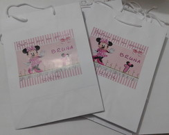Sacola Papel Personalizada Minnie
