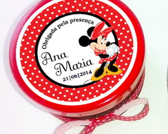 Latinha Personalizadas Minnie vermelha