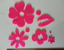 kit flores e folha