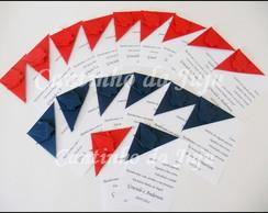 Marcadores de p�gina em origami - Papel