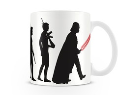 Caneca Evolu��o Star Wars