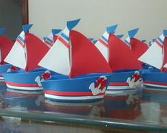 Barquinho marinheiro Azul Royal