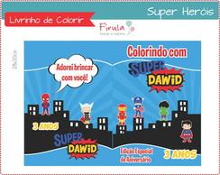 Capa de Livrinho para Colorir Her�is
