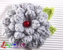 Broche en crochet flor