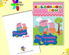 Revista p/ Colorir Peppa Pig Rosa