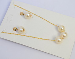 CONJUNTO GOLD AND PEARLS