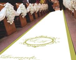 Tapete para entrada dos noivos - Bras�o