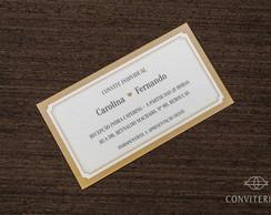 Convite Individual Moldura Papel Perolad