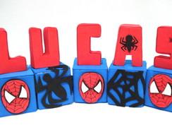 Cubinhos De Nomes Tema Homem Aranha