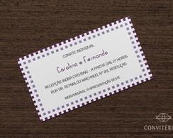 Convite Individual Eixo Papel Branco
