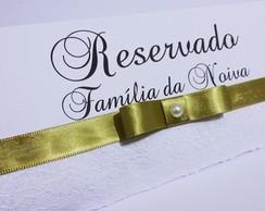 Placa reservado para mesas Casamento