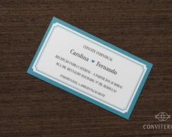 Convite Individual Moldura Papel Branco