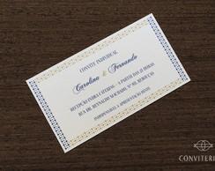 Convite Individual Pontos Papel Perolado