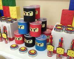Kit festa personalizada Lego