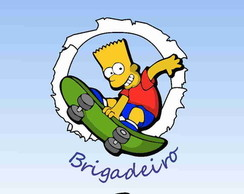 R�tulo para bisnaga - Tema Simpsons