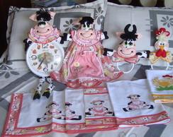 Kit de cozinha vaquinha cor de Rosa (24)
