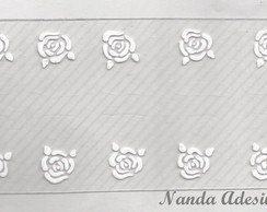 Adesivo Rosas Brancas C�d.: A159