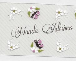 Adesivo Flores Brancas C�d.: A156