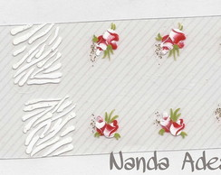 Adesivo Zebra Branca e Rosas C�d.: A152