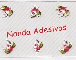 Adesivo Rosas Vermelhas C�d.: A151