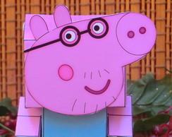 Caixinha Lembrancinha Peppa Pig Papai