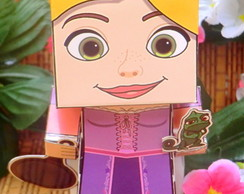 Caixinha Lembrancinha Rapunzel Enrolados