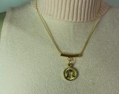 Colar Feminino com Medalha de Ferradura