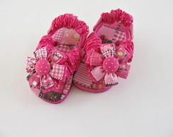 chinelo baby customizado em tecido