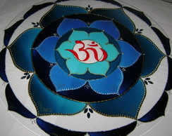 Mandala Ohm Flor azul MP-164