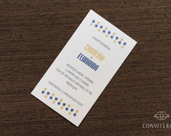 Convite Individual Estrela Papel Perolad