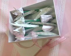 Caixa com tulipas perfumadas