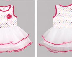 Vestido Algod�o Princesa - Pronta Entreg