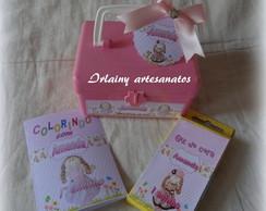 Mini kit maletinha boneca de pano