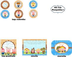 Kit Tr�s Porquinhos 1