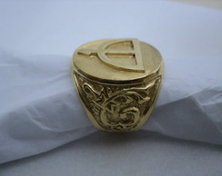 Anel Ofa de Oxossi redondo em prata