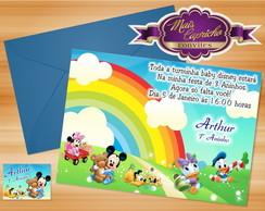 Convite Baby Disney