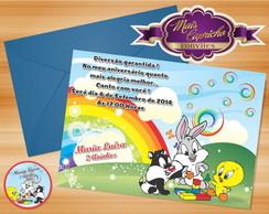 Convite Baby Looney Tunes