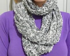 Gola feminina de l� em tricot