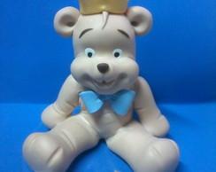 topo de bolo urso com coroa