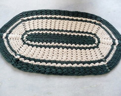 Tapete oval de croch�