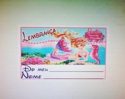 �m� geladeira 5x4 Barbie Sereia P�rola