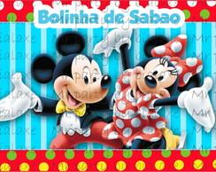 R�tulo Bolinha de Sab�o Mickey