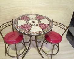 Mesa em mosaico c/2 banquinhos c�digo102