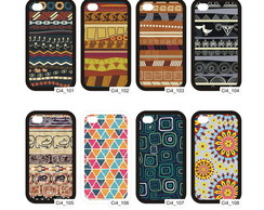 Capa Iphone 4-5 / Galaxy S3-4 Tribais