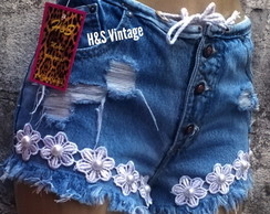 Short Customizado Flower Power