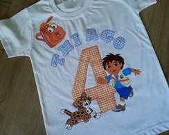 Camiseta Personalizada Go Diego Go
