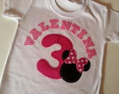 Camiseta Personalizada Anivers�rio MINIE