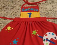 Avental Infantil Pintando o 7 - SOPHIA