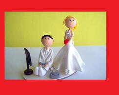 casal de noivos medicos